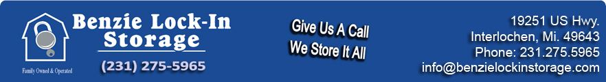 Benzie Michigan Self Storage Units